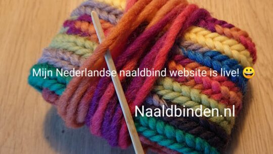Needlebinding step by step   instructions and my first Youtube video in English.